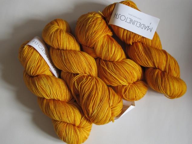 Madelinetosh sock Gilded