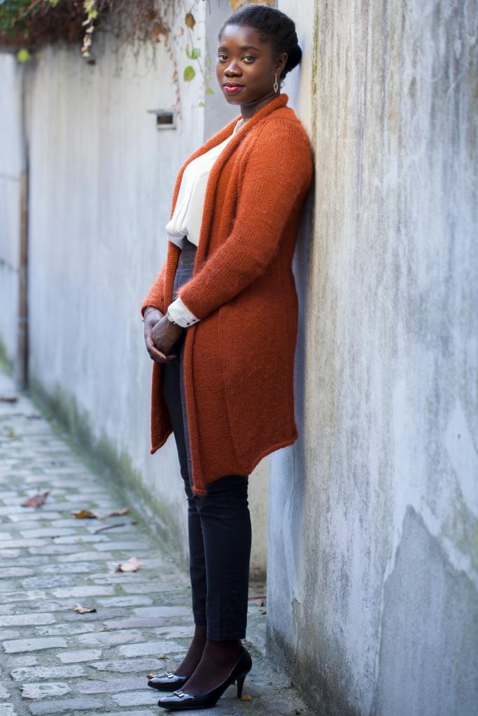 Arnett en mode Working girl