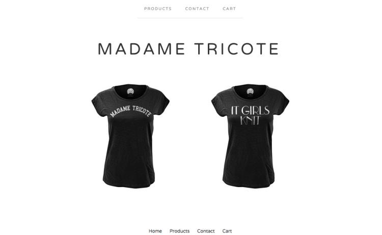 Boutique en ligne Madame Tricote