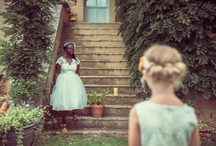 Mariage champêtre DIY Naturalhair bride