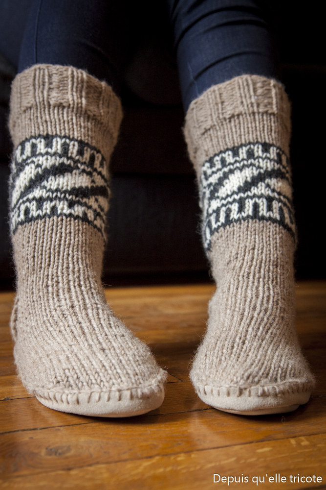 Tuto Chaussons Cowichan
