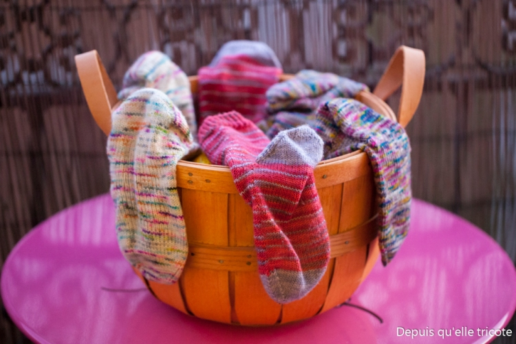 Socktober socks Depuisquelletricote